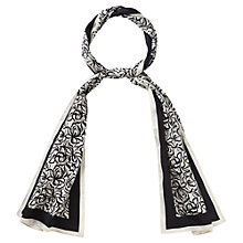 Buy Viyella Flower Scarf, Black Online at johnlewis.com