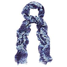 Buy Jaeger Ice Flower Scarf, China Blue Online at johnlewis.com