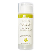 Buy REN Clarimatte T-Zone Balancing Gel Cream, 50ml Online at johnlewis.com