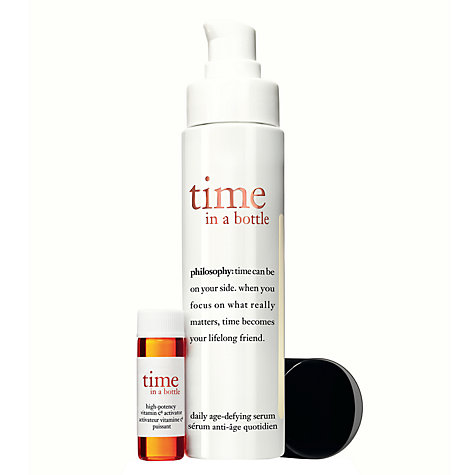 Buy Philosophy Time in a Bottle Daily Age Defying Serum, 40ml Online at johnlewis.com