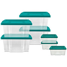 Buy John Lewis Storage Box Set, 7 Piece, Teal Online at johnlewis.com