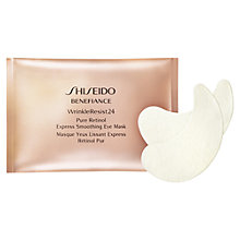 Buy Shiseido Benefiance WrinkleResist24 Smoothing Eye Mask, Pack of 12 Online at johnlewis.com