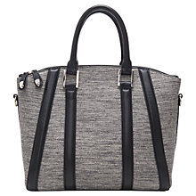 Buy French Connection Gia Weave Tote Handbag, Black/Grey Online at johnlewis.com