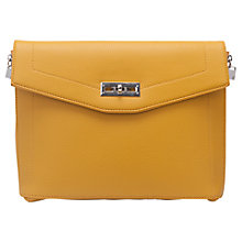Buy French Connection Hillary Clutch Bag, Yellow Online at johnlewis.com