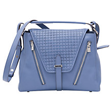 Buy French Connection Zoe Tote Handbag, Blue Cornflower Online at johnlewis.com