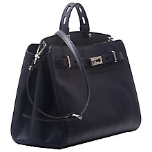 Buy French Connection Cindy Leather Tote Bag, Utility Blue Online at johnlewis.com