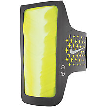 Buy Nike E2 Prime Performance Armband for iPhone 5/5C/5S, Grey/Yellow Online at johnlewis.com