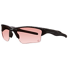 Buy Oakley 009154 915411 Half Jacket Wrap Around Sports Sunglasses, Black/Rose Online at johnlewis.com