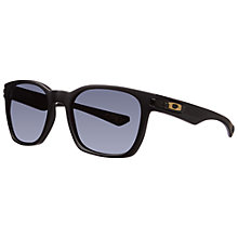 Buy Oak 0oo9175 917520 Rectangle Frame Sunglasses, Matte Black Online at johnlewis.com