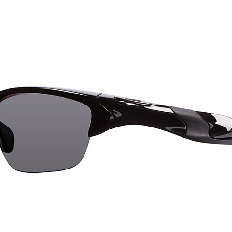 Buy Oakley OO9144 Half Jacket Rectangular Polarised Sunglasses, Polished Black Online at johnlewis.com