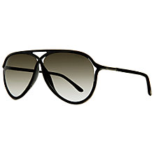 Buy TOM FORD FT0319 Criss-Cross Aviator Sunglasses, Gold/Havana Online at johnlewis.com