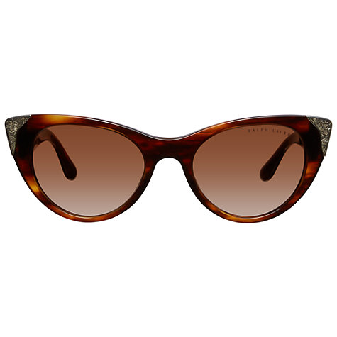 Buy Ralph Lauren RT8112 Cat's Eye Sungalsses, Tortoiseshell Online at johnlewis.com