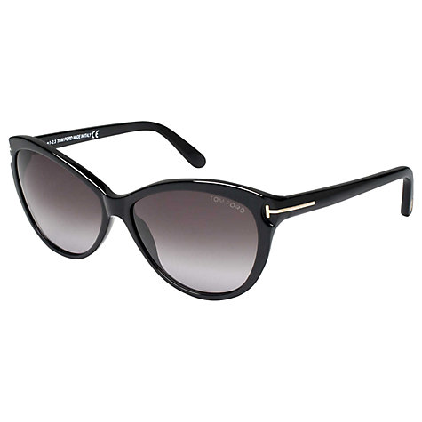 Buy TOM FORD FT0325 01P Square Sunglasses, Black Online at johnlewis.com