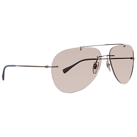 Buy Prada Linea Rossa Aviator Sunglasses Online at johnlewis.com