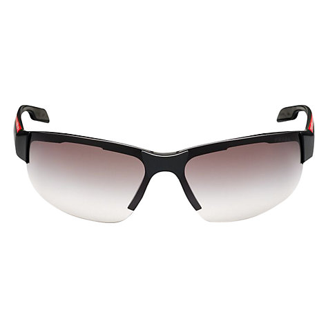Buy Prada Linea Rossa 0PS 03PS 1BO0A7 Sunglasses, Black Online at johnlewis.com