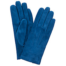 Buy John Lewis Suede Gloves, Cobalt Blue Online at johnlewis.com