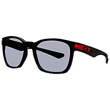 Buy Oakley 009175 Garage Rock™ Polarised Sunglasses, Black Online at johnlewis.com