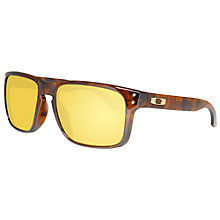 Buy Oakley OO9102 910234 D-Frame Sunglasses, Brown Tortoiseshell Online at johnlewis.com