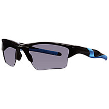 Buy Oakley 009154 915425 Half Jacket Wrap Around Sports Sunglasses, Black Demi Shiny Online at johnlewis.com