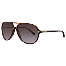 Buy TOM FORD FT0331 56P Cross Front Butterfly Sunglasses Online at johnlewis.com