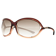 Buy TOM FORD TF0328 01B Wrap Around Floating Lens Sunglasses, Caramel Online at johnlewis.com