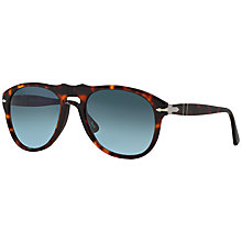 Buy Persol PO0649s Pilot Sunglasses, Havana Online at johnlewis.com