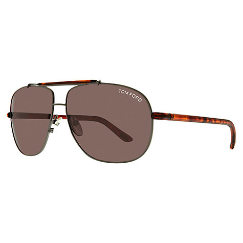 Buy TOM FORD FT0327 Aviator Sunglasses, Tortoise Online at johnlewis.com