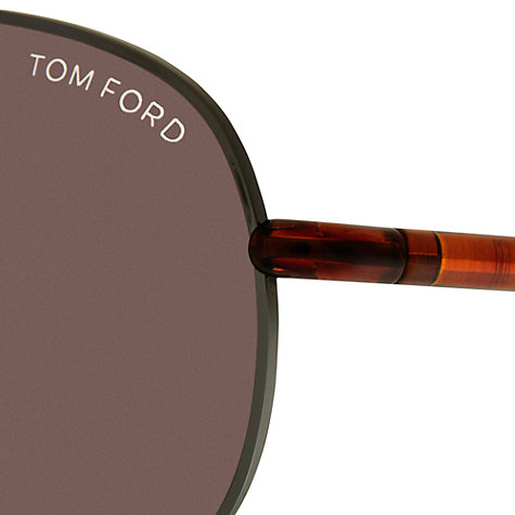 Buy TOM FORD FT0327 52F Tortoiseshell Aviator Sunglasses, Brown Online at johnlewis.com