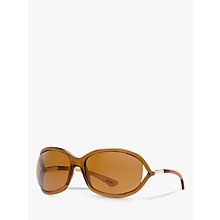Buy TOM FORD FT0008 48H Cat's Eye Sunglasses, Tortoiseshell Online at johnlewis.com
