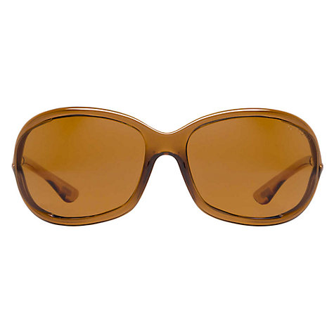 Buy Tom Ford FT0008 48H Catseye Sunglasses, Tortoiseshell Online at johnlewis.com