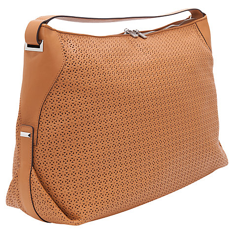 Buy French Connection Lottie Leather Shoulder Bag, Tan Online at johnlewis.com