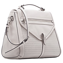 Buy French Connection Carla Leather Tote Handbag, Cream Online at johnlewis.com