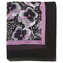 Buy Warehouse Graphic Pansy Print Scarf, Purple Pattern Online at johnlewis.com
