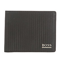 Buy BOSS Dimy Leather Weave Wallet, Black Online at johnlewis.com