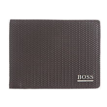 Buy BOSS Duggy Leather Weave Coin Wallet, Brown Online at johnlewis.com