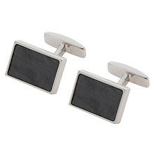 Buy BOSS Guilius Stone Cufflinks, Grey Online at johnlewis.com