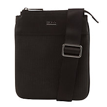 Buy BOSS Drive Cross Body Bag, Black Online at johnlewis.com