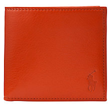 Buy Polo Ralph Lauren Leather Billfold Coin Wallet Online at johnlewis.com