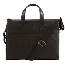Buy BOSS Directly Braided Leather Bag, Black Online at johnlewis.com