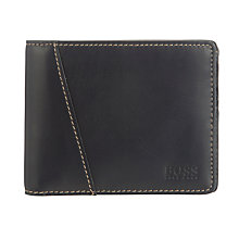 Buy BOSS Malaw Leather Billfold Wallet, Navy Online at johnlewis.com