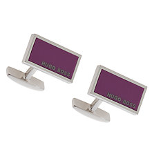 Buy BOSS Camilo Rectanglar Cufflinks, Bright Pink Online at johnlewis.com