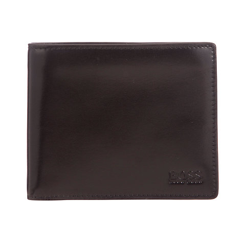 Buy BOSS Solero Leather Wallet and Card Set, Black Online at johnlewis.com