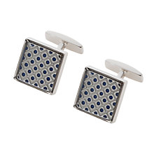 Buy BOSS Pekin Diamond Cufflinks, Silver Online at johnlewis.com