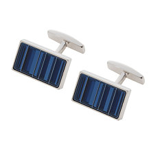Buy BOSS Krystan Rectangular Stripe Cufflinks, Navy Online at johnlewis.com