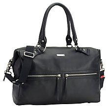 Buy Storksak Caroline Changing Bag, Black Leather Online at johnlewis.com