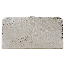 Buy Dune Ballie Leather Clutch Handbag, Champagne Online at johnlewis.com