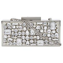 Buy Dune Becasey Clutch Handbag, Ivory Online at johnlewis.com