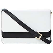 Buy Dune Brimey Clutch Bag, Black/White Online at johnlewis.com