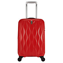 Buy Antler Liquis Embossed Spinner 4-Wheel Cabin Suitcase, Red Online at johnlewis.com
