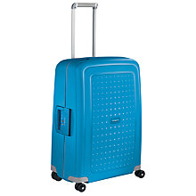Buy Samsonite S'Cure 4-Wheel 69cm Medium Suitcase, Pacific Blue Online at johnlewis.com